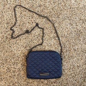 Steven Madden navy blue crossbody bag.